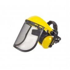 Apsauginis veido skydelis su sieteliu ir ausinėmis FA-5007