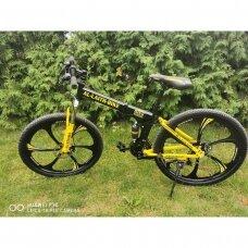 Caraiman 26x17 Sulankstomas kalnu dviratis Juoda/Geltona