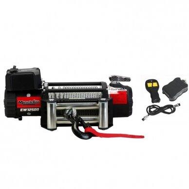 Elektrinė gervė (Muscle Lift) 12V 12500Lbs/5665kg, (Radio valdymas)