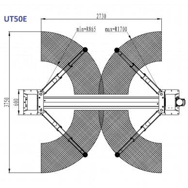 Hidraulinis dviejų kolonų keltuvas su elektromagnetiniu fiksavimu, 5.0t 2