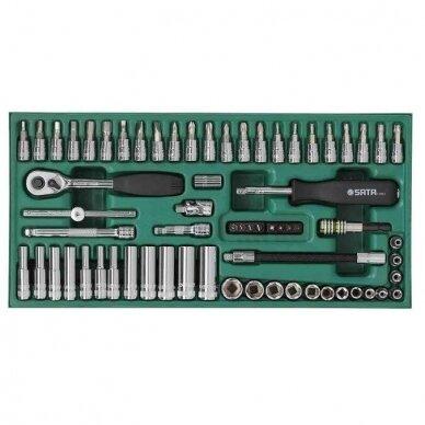 Įrankių spintelė NTBR4006X su SATA įrankiais 300vnt. 2