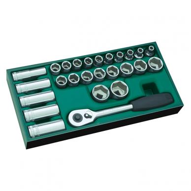Įrankių spintelė NTBR4006X su SATA įrankiais 300vnt. 16