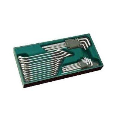 Įrankių spintelė NTBR4006X su SATA įrankiais 300vnt. 7