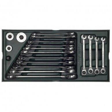 Įrankių spintelė NTBR4006X su SATA įrankiais 300vnt. 9