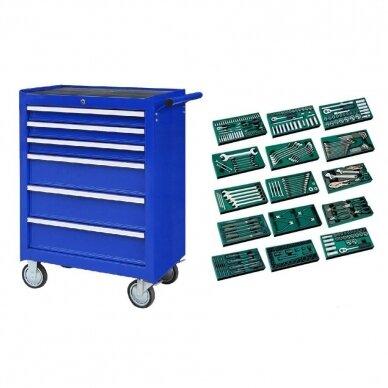 Įrankių spintelė NTBR4006X su SATA įrankiais 300vnt.
