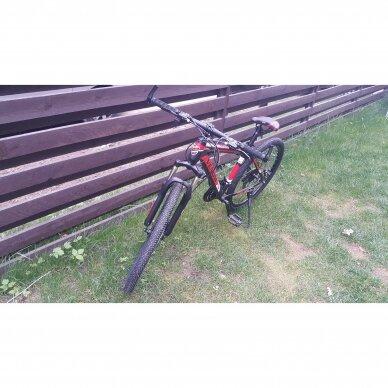 Kalnų dviratis VENOM 26x17  Raudona/Juoda 2