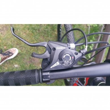 Kalnų dviratis VENOM 26x17  Raudona/Juoda 6