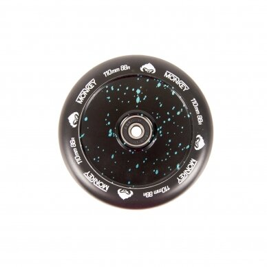 Paspirtuko ratukas Monkey Hollowcore black dotted 110mm