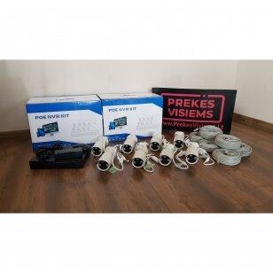 Poe 3MP 8 kameru komplektas