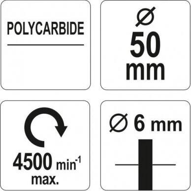 Šepetys abrazyvinis disko tipo 50mm su koteliu 3